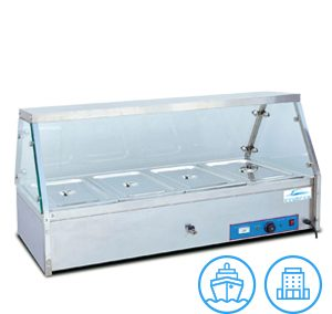 Innotrics Bain Marie 4 Pans With Glass Display 220V